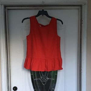 J.Crew Red top Sz S